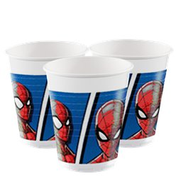 Vasos de Plástico Spider-Man Team Up - 200ml