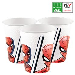 Vasos de papel compostables Spider-Man - 200 ml