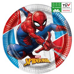 Platos compostables Spider-Man - 23cm