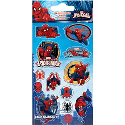 Stickers de papel metalizado de Spiderman