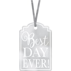 Etiquetas Best Day Ever Plateadas
