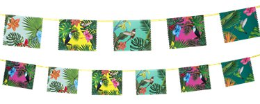 Banderines de Papel FIesta Tropical 4m