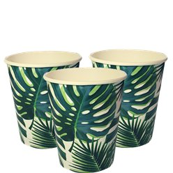 Vaso de Papel Palmera Fiesta Tropical 250ml