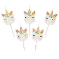 Velas con forma de unicornios - Colección We Heart Unicorn