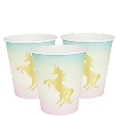 Vasos We Heart Unicorn Detalle Metalizado - Vasos de Cartón 250ml