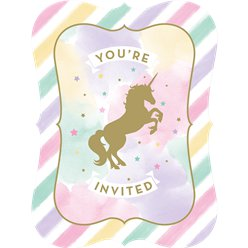 Invitaciones Unicorn Sparkle
