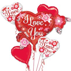 Bouquet de Globos I Love You Variados Metalizados