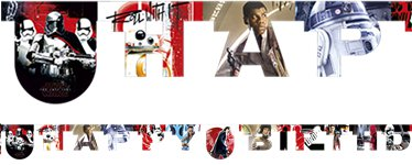 "Banner ""Happy Birthday"" de Star Wars Episodio VIII Los Últimos Jedi"