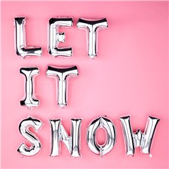 Kit de globos Plateados metalizados Let it Snow