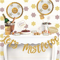 Kit decoración bufé Lets Mistletoe de lujo