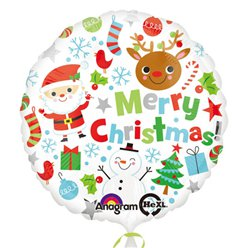 Globo Merry Christmas-18'' papel metalizado